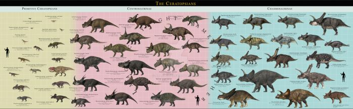 The Ceratopsians Complete by PaleoGuy