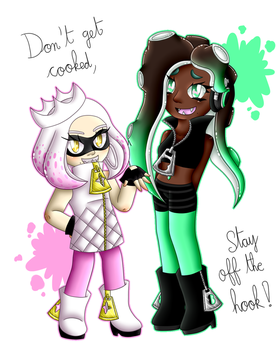 Splatoon 2 : Pearl and Marina by Poussi-Chan57