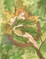 Celtic Oak Tree Fairy by mickiemueller
