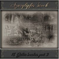 gothic part 3 brushes by AzurylipfesStock