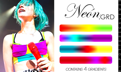 +Degradados 002: Neon by PottericaLewis