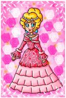 peach lovely dress by ninpeachlover