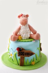 Mini sheep cake by kupenska