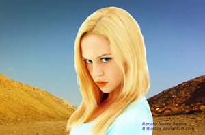 The blond on the desert by rnbastos
