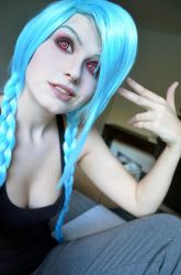 Jinx Makeup Test 2 by Kinpatsu-Cosplay