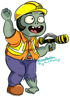 Engineer Zombie (Commission) by CrazyPlantMae