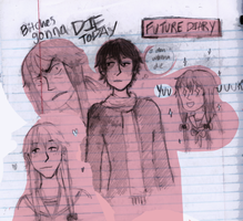future diary sketches by boniae