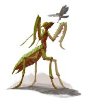 Giant praying mantis for Legendary Games by MichaelJaecks