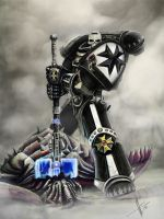 Black templar chaplain by HrvojeSilic