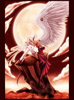 Kiss of the Crimson Moon by Centi