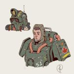 A dude with power armor by Fernand0FC