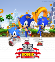 Sonic's 25th Anniversary Poster Remake by NuryRush