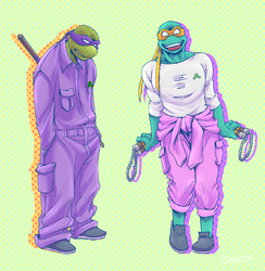 2K3 Donnie and Mikey by FREAKfreak