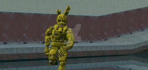 RUN RUN  SPRINGTRAP! by DarkVirus87