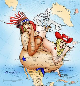 Map of Canada and the U.S. ..2 by oupelay