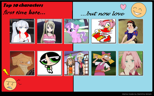 Top 10 characters I used to hate but now love by dark-kunoichi92
