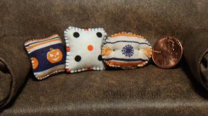 Mini Halloween Pillow Set 1 by Kyle-Lefort