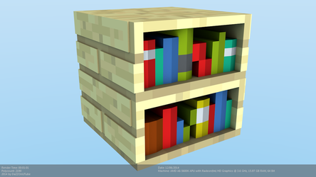 Minecraft Bookshelf Model by CraftDAnimation
