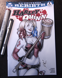 Harley Quinn sketch cover IV by WarrenLouw