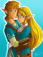 Link + Zelda :: Breath of the Wild by brigette