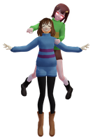 [MMD]Frisk and Chara + DL by Chikunyako