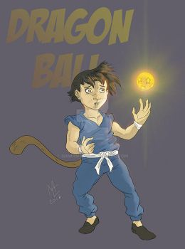 Dragon Ball comic Style by Hawkmac