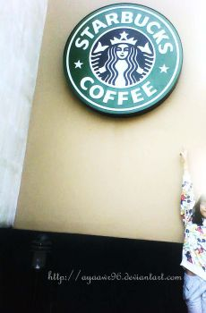 peace forever at starbucks by ayaawr96