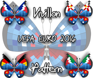 Vivillon UEFA Euro 2016 pattern by Starfighter-Suicune