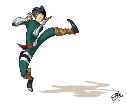 Rock Lee by Shadowgrail