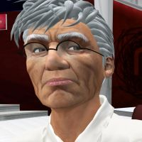 Noam Chomsky in second life by MorgaineA