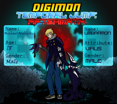 DTJ:A. - Michael and Umbramon by Omega-Knight-X97M