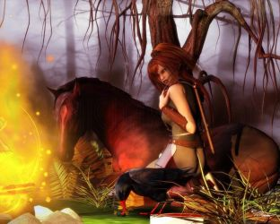 Fireside by vaia