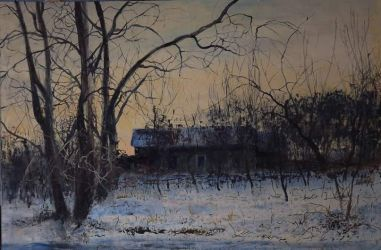 Winter evening in Rozkishne by dismwork