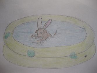 Playboy-Puppy goes Swimming :D by Weirdaholic