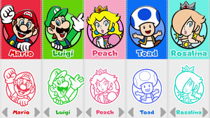 Super Mario 3D World Character Selection by Rosalina-Luma
