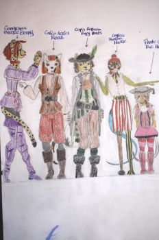 Furry Pirates Females by panhellsing66