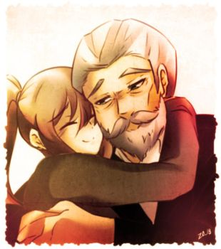 Mary and her grandpa by ZA-18