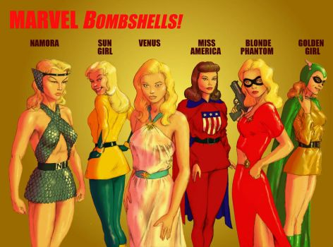 TLIID - New Avengers Line-up - Marvel Bombshells! by Nick-Perks