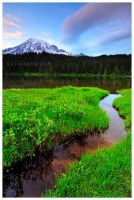 Leaving Reflection Lake by Raymaker