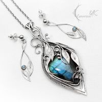 ENZANAMILIUS - Set, Silver and Labradorite by LUNARIEEN