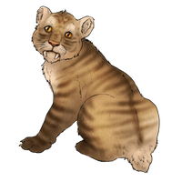 Smilodon Cub Companion - Striped by TokoTime