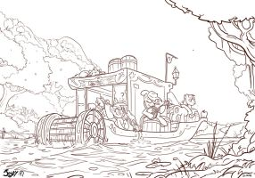 Cider River LineArt version by Jowybean