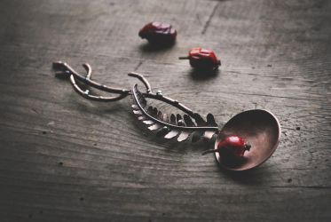 Copper Tea Spoon by twistedjewelry