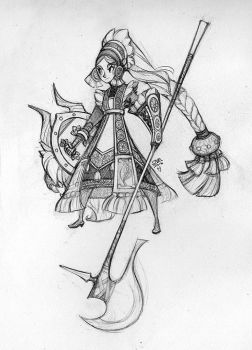 Shieldmaiden Sketch by sambees