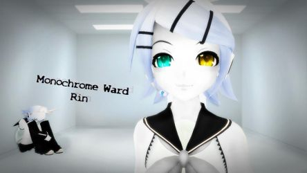 [MMD] Monochrome Ward Rin by Snorlaxin