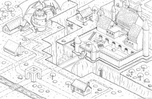 Isometric Castle by fuzzybudgie