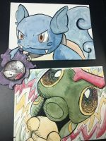 Wartortle, Caterpie and Gastly