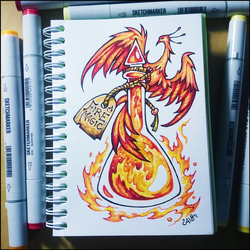 Sketchbook - Fire Magic by Candra