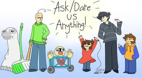 Ask or dare Baldi and friends! by Mr-Ms-Faded