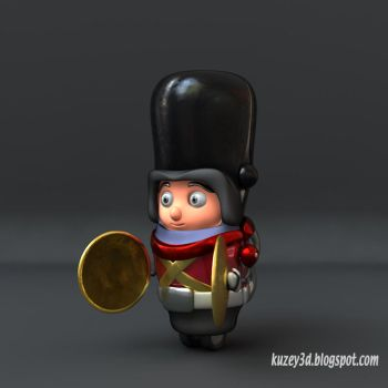 Tin Toy: Cymbalist by Kuzey3d